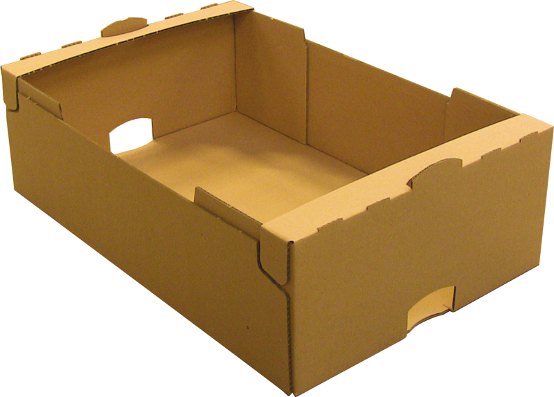 gelijmde kartonnen doos met randen