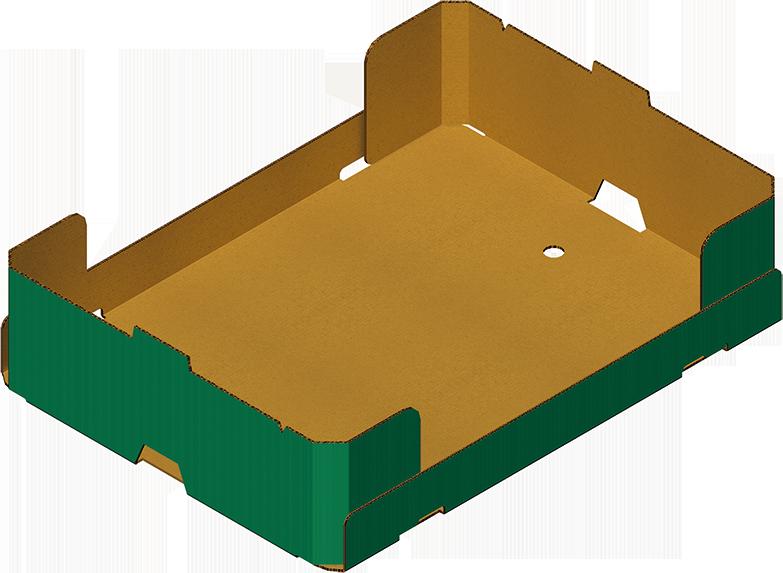 4punts verlijmde tray voor trayopzetmachine MIBOX