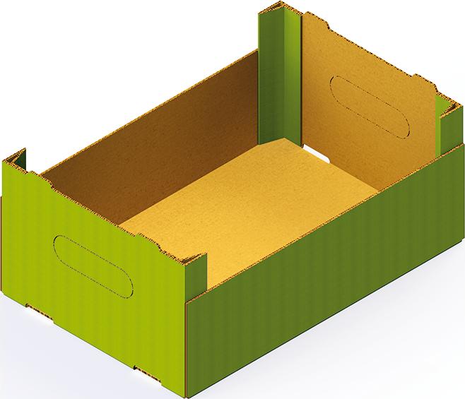 Caisse carton avec poutres dièdres Formeuse Barquetteuse MIBOX D20