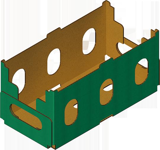 Caisse coins collés caisse carton assemblée avec Formeuse Barquetteuse MIBOX