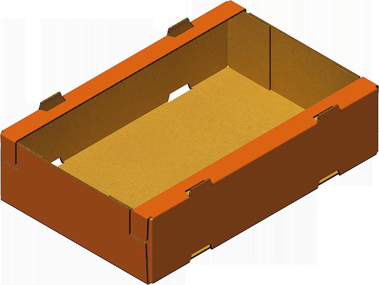 Caisse trottoir carton réaisée avec Formeuse Barquetteuse MIBOX